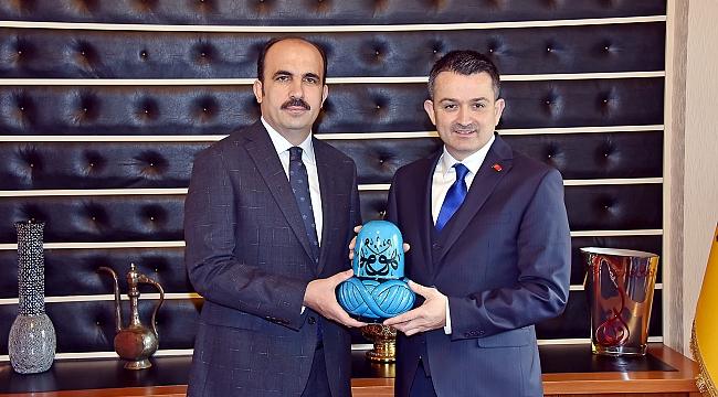 Tarım Bakanı Pakdemirli Altay'ı ziyaret etti
