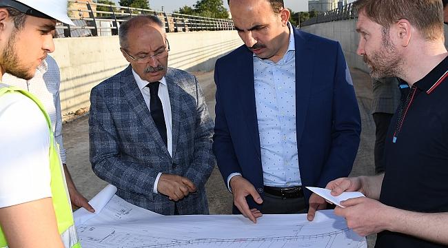 Altay Yeni YHT Garı Alt Geçidi İnşaatını İnceledi