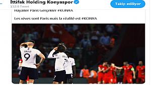 Konyaspor'dan anlamlı paylaşım