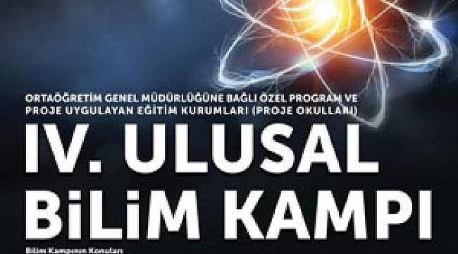 4. Ulusal Bilim Kampı Konya'da Yapılacak