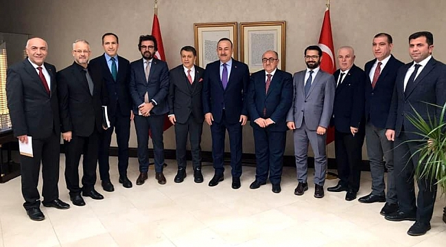 KGK'dan, Bakan Çavuşoğlu'na ziyaret