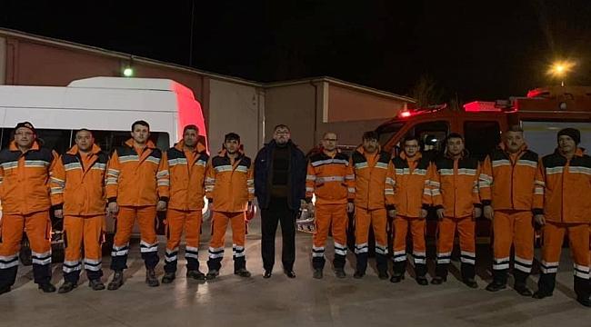 Konya'dan Elazığ'a itfaiye desteği