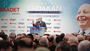Erbakan Konya'da anıldı