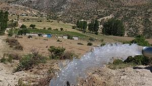 Salarlı kapalı sistem sulama tesisi işletmeye alındı