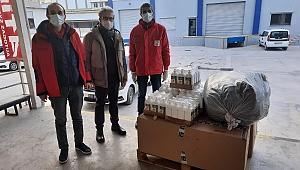 TSYD Konya'nın yardımları İzmir Kızılay'a teslim edildi