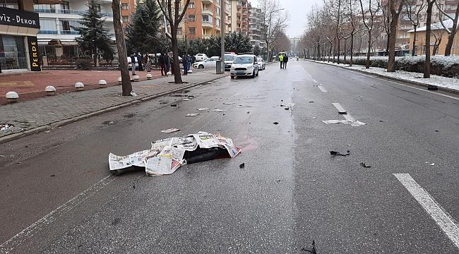 Gazete dağıtıcısı kaza kurbanı