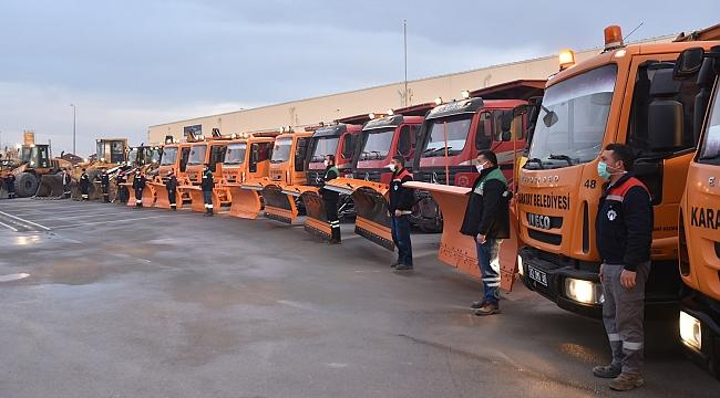 Karatay'da kış hazırlıkları tamamlandı