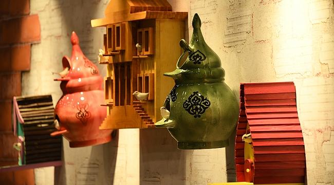 Kuş evleri sergisi açıldı