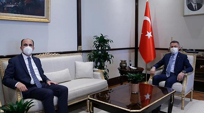 Altay, Cumhurbaşkanı Yardımcısı Oktay'ı ziyaret etti