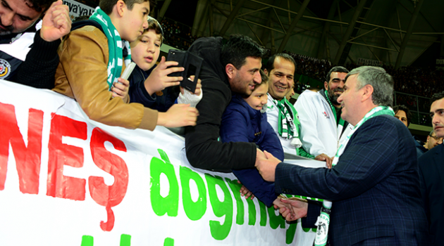 Konya'dan Akyürek'e kutlama